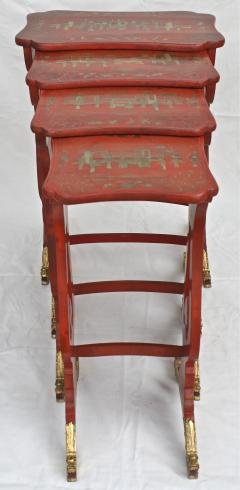 Chinese Export Parcel gilt on Lacquer Quartetto Tables - 1841961