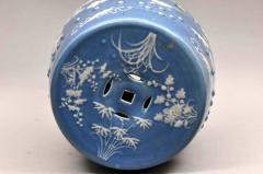 Chinese Export Porcelain Blue Ground Garden Seat - 1727403