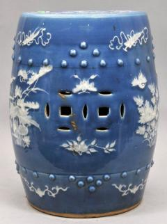 Chinese Export Porcelain Blue Ground Garden Seat - 1727404