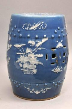 Chinese Export Porcelain Blue Ground Garden Seat - 1727407
