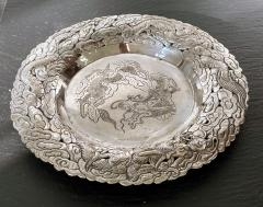Chinese Export Silver Dragon Serving Tray - 1969013