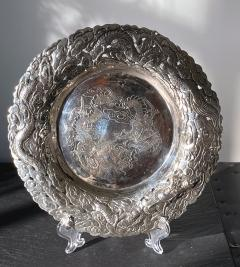 Chinese Export Silver Dragon Serving Tray - 1969015