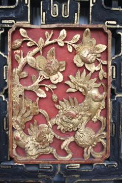 Chinese Guardian Lion Door Panel - 2066375