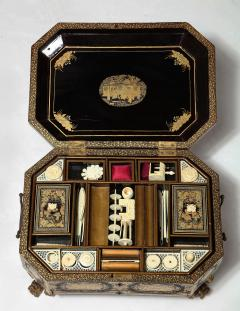 Chinese Lacquer Sewing Box - 1944013