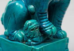 Chinese Large Turquoise Foo Dog - 267278