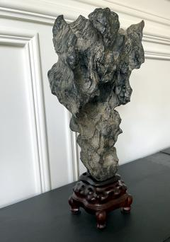 Chinese Lingbi Scholar Stone on Display Stand - 2114295