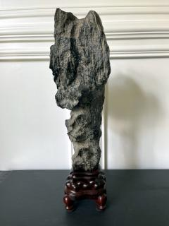 Chinese Lingbi Scholar Stone on Display Stand - 2114298