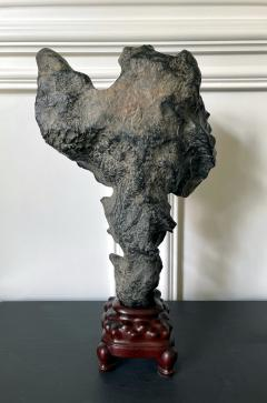 Chinese Lingbi Scholar Stone on Display Stand - 2114299