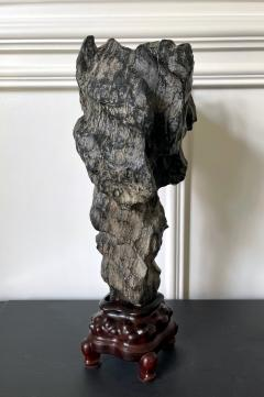 Chinese Lingbi Scholar Stone on Display Stand - 2114300