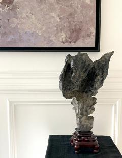 Chinese Lingbi Scholar Stone on Display Stand - 2114304