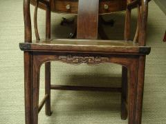 Chinese Qing period elm yoke back armchairs - 2089809