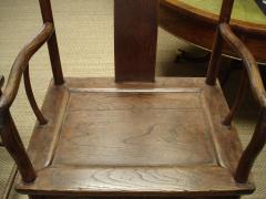 Chinese Qing period elm yoke back armchairs - 2089810