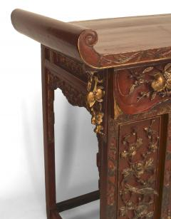 Chinese Red Lacquered and Gilt Altar Console Table - 1428785