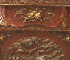 Chinese Red Lacquered and Gilt Altar Console Table - 1428787