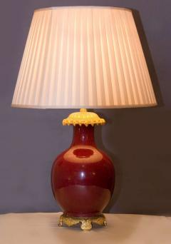 Chinese Red Sang de Boeuf Lamp - 621092