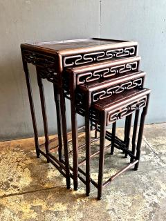 Chinese Rosewood Nesting or Quartetto Tables - 1384391