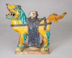 Chinese Sancai Glazed Ceramic Guardian Lion - 976220