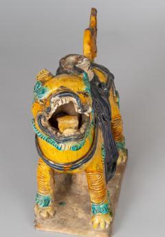 Chinese Sancai Glazed Ceramic Guardian Lion - 976222