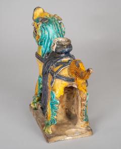 Chinese Sancai Glazed Ceramic Guardian Lion - 976225