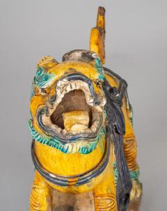 Chinese Sancai Glazed Ceramic Guardian Lion - 976227