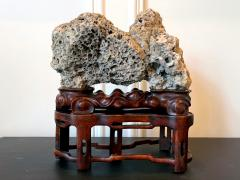 Chinese Scholar Rock Kun Stone on Display Stand - 1963657