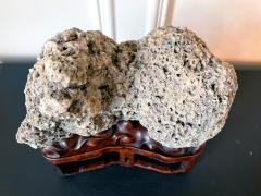 Chinese Scholar Rock Kun Stone on Display Stand - 1963664