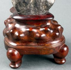 Chinese Scholar Rock Yingde Stone on Display Stand - 1901199