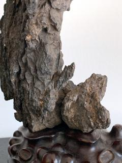 Chinese Scholar Rock Yingde Stone on Stand - 1136148