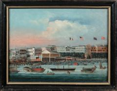 Chinese School China Trade Painting of the Hongs at Canton - 652003