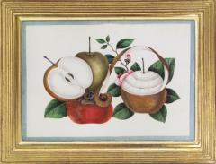 Chinese School Group of Eight Exotic Fruits on Pith Paper - 1958239