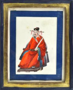 Chinese School Wise Men Chinese Export watercolours on Pith paper - 1067408