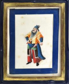 Chinese School Wise Men Chinese Export watercolours on Pith paper - 1067409