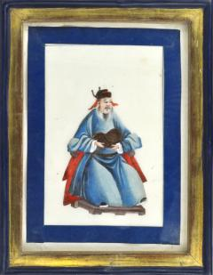 Chinese School Wise Men Chinese Export watercolours on Pith paper - 1067410