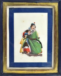 Chinese School Wise Men Chinese Export watercolours on Pith paper - 1067411