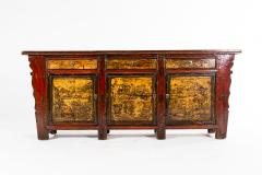 Chinese Sideboard with Three Drawers and Three Doors - 1224843