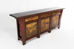 Chinese Sideboard with Three Drawers and Three Doors - 1224844