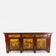 Chinese Sideboard with Three Drawers and Three Doors - 1225579