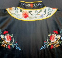 Chinese Silk coat with Embroidery Design - 1600643