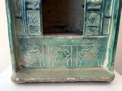 Chinese Stoneware Funeral Shrine Model and Figure Ming Dynasty - 1510417