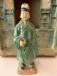 Chinese Stoneware Funeral Shrine Model and Figure Ming Dynasty - 1510422