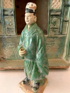 Chinese Stoneware Funeral Shrine Model and Figure Ming Dynasty - 1510423