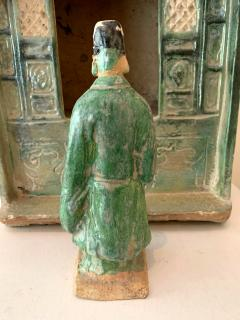 Chinese Stoneware Funeral Shrine Model and Figure Ming Dynasty - 1510424