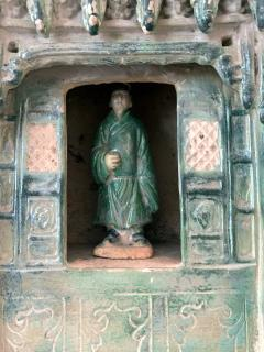 Chinese Stoneware Funeral Shrine Model and Figure Ming Dynasty - 1510425
