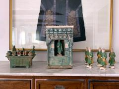 Chinese Stoneware Funeral Shrine Model and Figure Ming Dynasty - 1510426