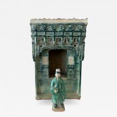 Chinese Stoneware Funeral Shrine Model and Figure Ming Dynasty - 1512263