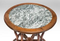 Chinese Table with Beautifully Figured Inset Marble Top - 1062151