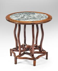 Chinese Table with Beautifully Figured Inset Marble Top - 1062156