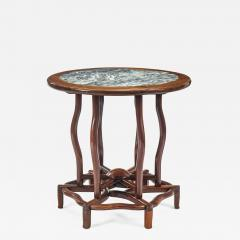 Chinese Table with Beautifully Figured Inset Marble Top - 1062680