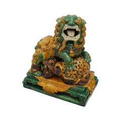 Chinese XIX Century Pair of Protection Foo Lions - 2051067