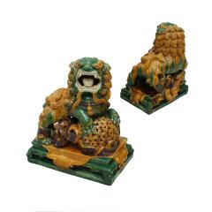 Chinese XIX Century Pair of Protection Foo Lions - 2051069